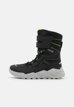 ROCKET - Winter boots - schwarz/gelb