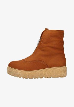 Platform ankle boots - cuero