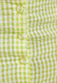 Bershka - A-line skirt - yellow - 5