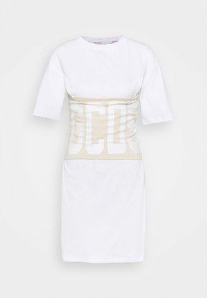 DUO BAND TEE - Print T-shirt - offwhite