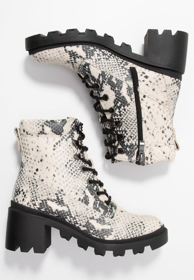 DILLIAN - Lace-up ankle boots - natural/multicolor