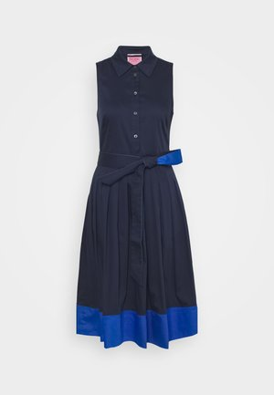 POPLIN COLORBLOCK DRESS - Shift dress - squid ink