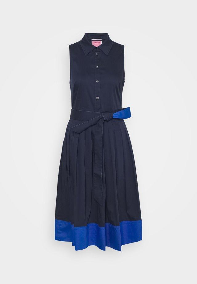 POPLIN COLORBLOCK DRESS - Shift dress - squid ink