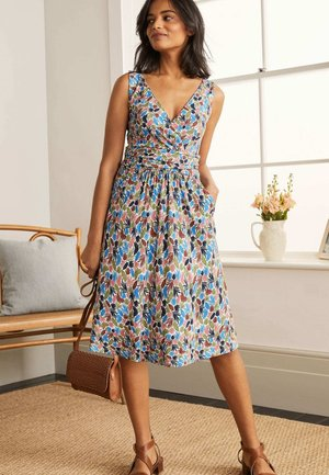 EFFIE  - Jersey dress - naturweiß, palme