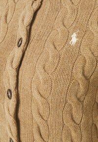 Polo Ralph Lauren - CARDIGAN LONG SLEEVE - Strikjakke /Cardigans - luxury beige heather - 3