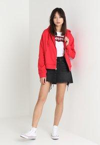 Levi's® - DECONSTRUCTED SKIRT - Denim skirt - black denim - 1