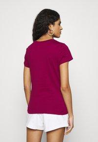 Calvin Klein Jeans - INSTITUTIONAL LOGO TEE 2 PACK - Triko spotiskem - purple - 2