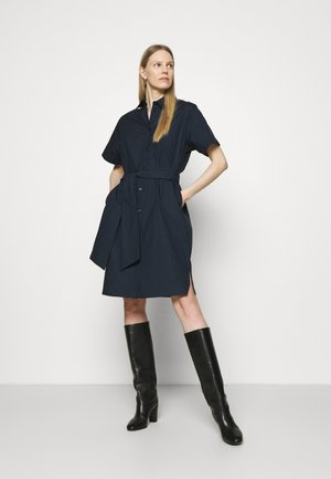 MIDI KURZARM - Shirt dress - navy