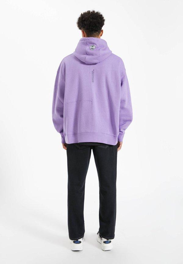 PULL&BEAR Bluza z kapturem - mauve Odzież Męska DGWP
