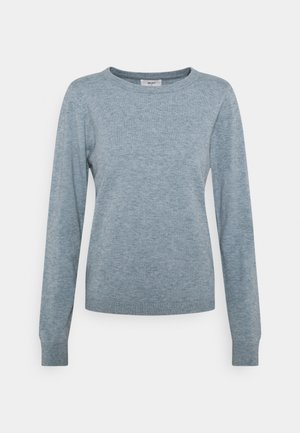 OBJTHESS O-NECK - Jumper - blue mirage/melange