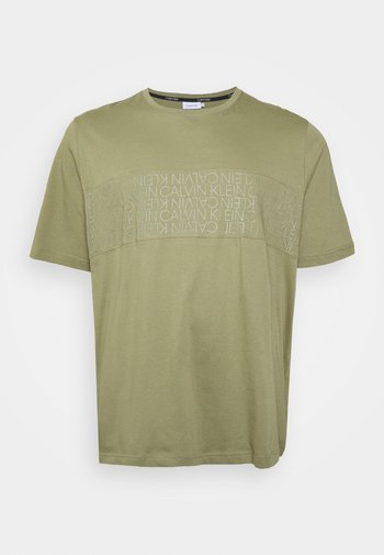 LOGO LINES - Print T-shirt - delta green
