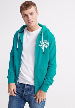 SCRIPT CLASSIC - Zip-up hoodie - lapis
