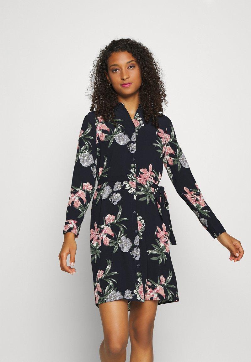 Vero Moda - VMSAGA COLLAR DRESS  - Shirt dress - navy blazer
