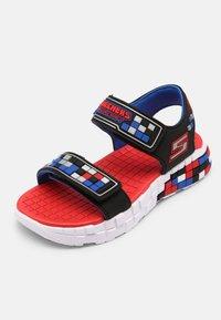 Skechers - MEGA-CRAFT - Sandals - black/silver/blue/red - 4