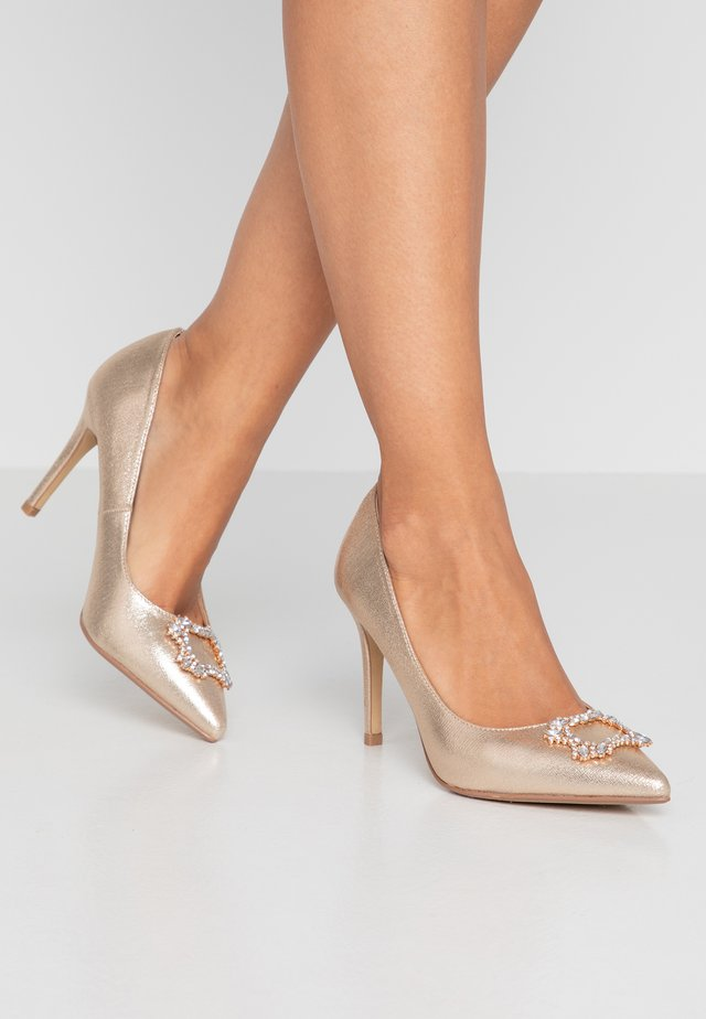 WIDE FITSQUARE - High heels - gold