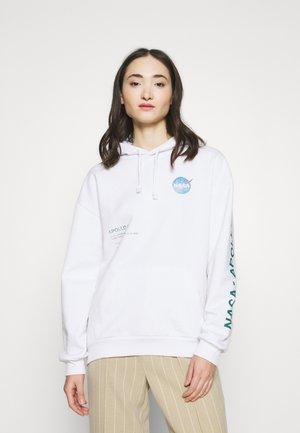 NASA SKATE HOODY - Hoodie - white