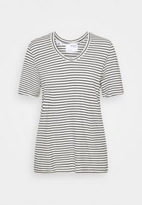 Selected Femme - SLFBELIVE TEE - Print T-shirt - snow white/black - 0
