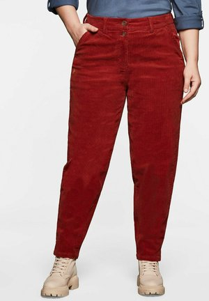 Trousers - marone
