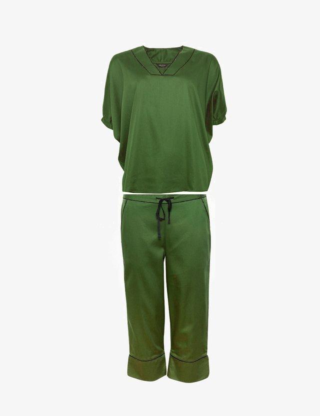 3/4 PANTS - Pigiama - military green