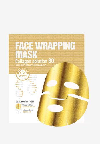 FACE WRAPPING MASK COLLAGEN SOLUTION 80 3 MASKS PACK - Skincare set - -