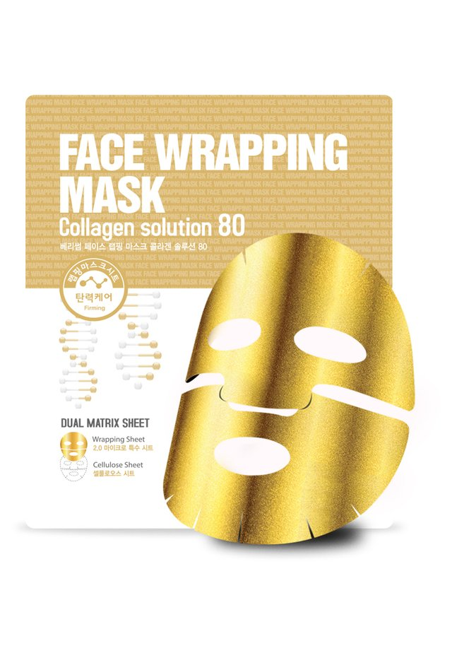 FACE WRAPPING MASK COLLAGEN SOLUTION 80 3 MASKS PACK - Kit skincare - -
