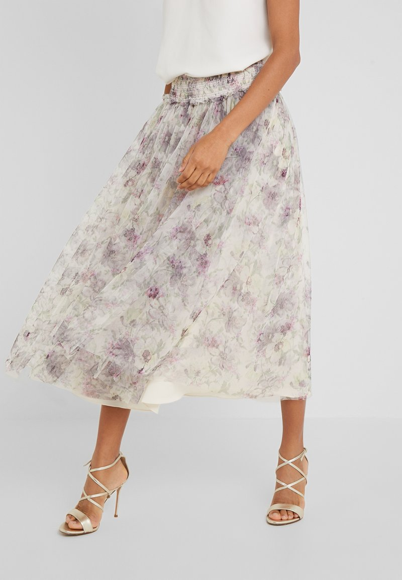 Needle & Thread - LILACS SMOCKED BALLERINA SKIRT - A-Linien-Rock - champagne