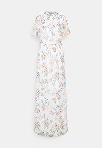 Vero Moda Tall - VMKAY ANKLE SHIRT DRESS - Maxi dress - snow white/flora - 0