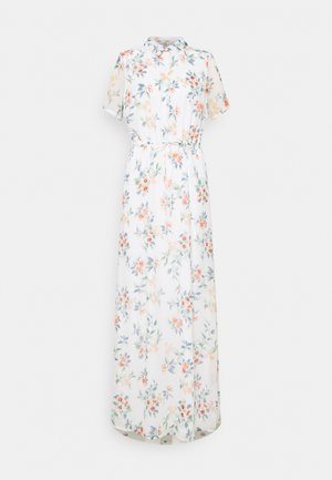 VMKAY ANKLE SHIRT DRESS - Maxi šaty - snow white/flora