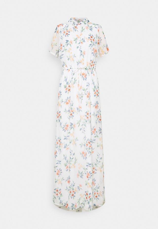 VMKAY ANKLE SHIRT DRESS - Maxi dress - snow white/flora