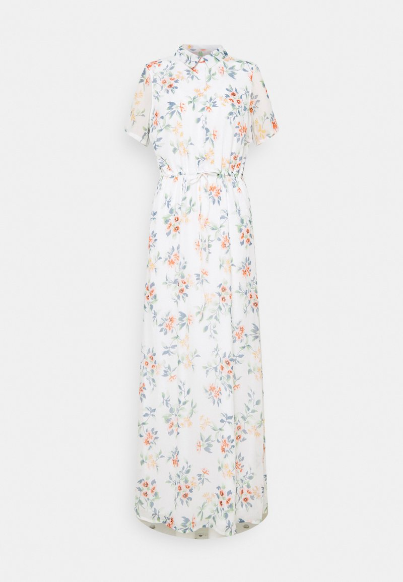 Vero Moda Tall - VMKAY ANKLE SHIRT DRESS - Maxi dress - snow white/flora