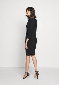 Lauren Ralph Lauren - MID WEIGHT DRESS - Shift dress - black - 2