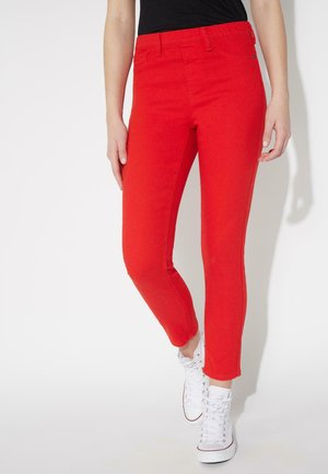 MIT SKINNY-PASSFORM - Jeggings - red lipstick