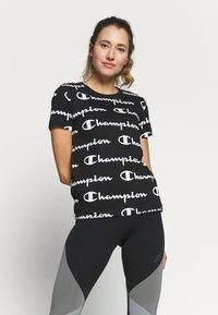 Champion - CREWNECK - T-shirts med print - black - 0