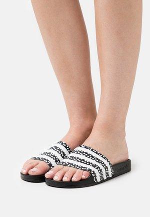 ADILETTE  - Pantolette flach - black