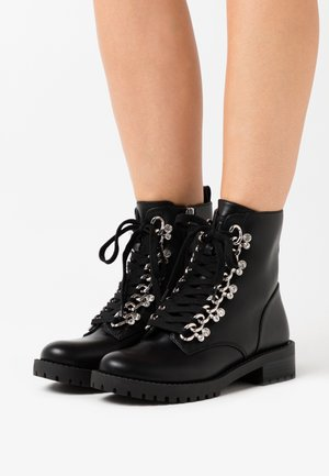 HINLEE - Bottines à lacets - black