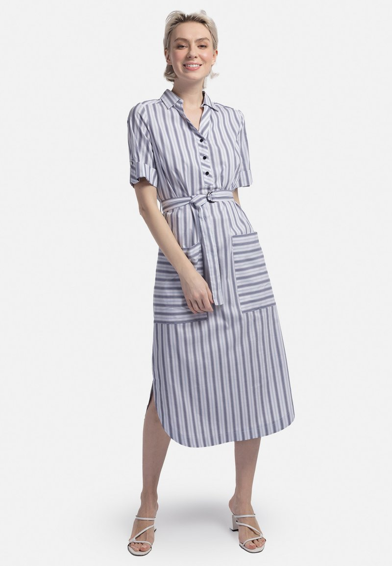 HELMIDGE - Shirt dress - weiss