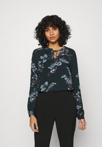 b.young - BYHENNA BLOUSE - Blouse - deep teal mix - 0