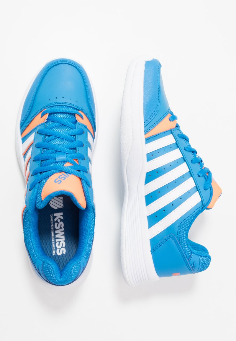 K-SWISS - COURT SMASH CARPET - Zapatillas de tenis para moqueta sintética - strong blue/neon citron