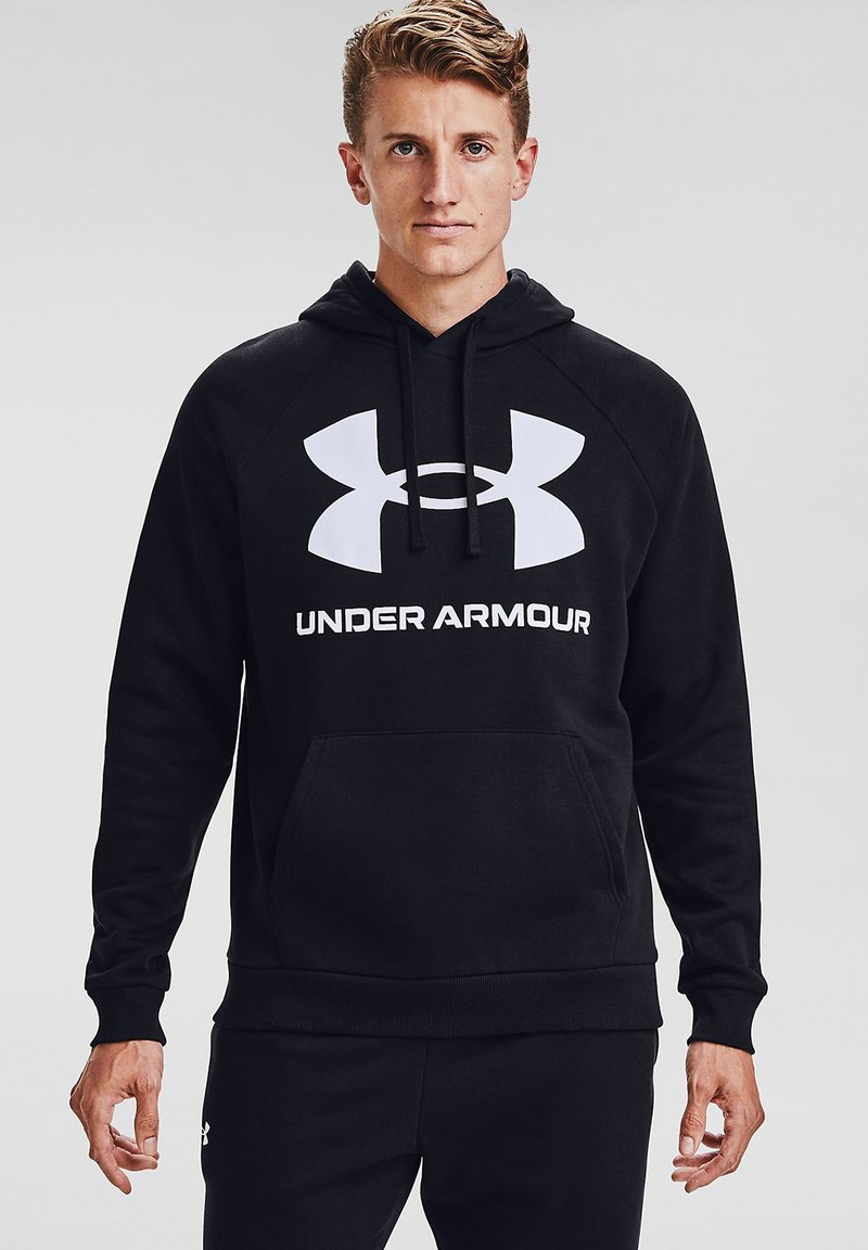 Under Armour - RIVAL  - Bluza z kapturem - black