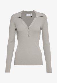 Weekday - FLAVIA - Camiseta de manga larga - light grey - 4