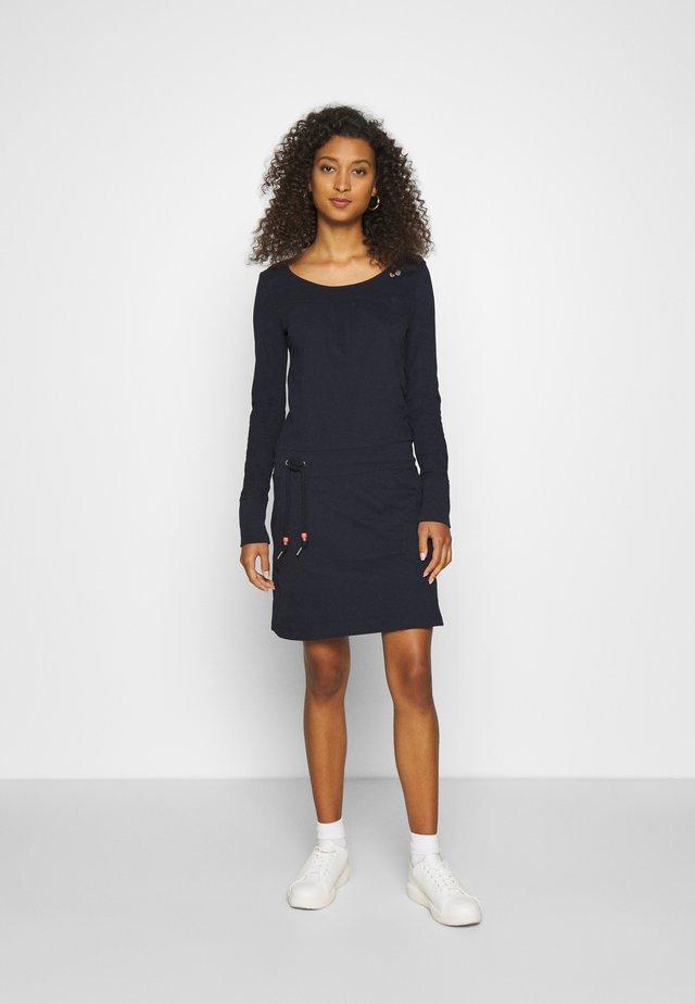 PENELOPE - Žerzejové šaty - navy