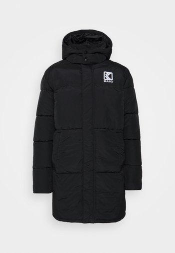 LONG HOODED PUFFER JACKET UNISEX - Winter coat - black