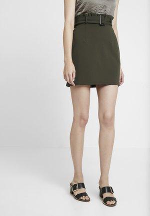 PAPERBAG SKIRT - A-line skirt - khaki