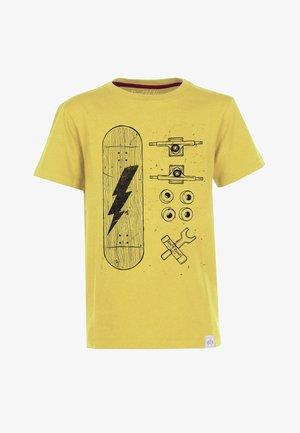 SKATE PARTS - Print T-shirt - yellow