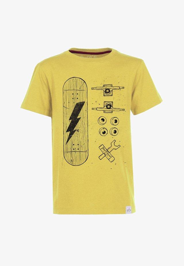 SKATE PARTS - T-shirt med print - yellow