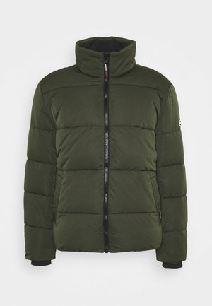 SHORT CASUAL PUFFER  - Winter jacket - dark olive