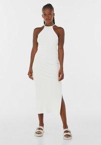 Bershka - Robe pull - white - 0