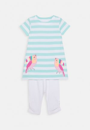 BABY KLEID SET - Leggings - Trousers - mint/white