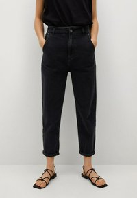 Mango - Slim fit jeans - black denim - 0