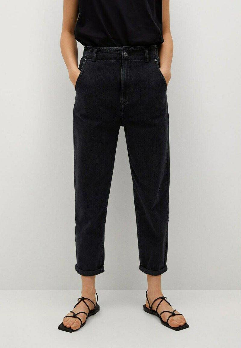 Mango - Slim fit jeans - black denim